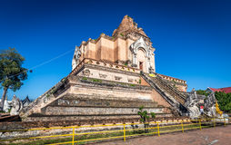 Ancient pagoda at Wat Chedi Luang temple in Chiang Mai, Thailand Royalty Free Stock Image
