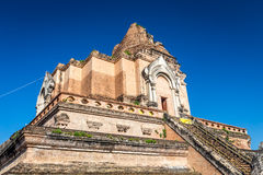 Ancient pagoda at Wat Chedi Luang temple in Chiang Mai, Thailand Royalty Free Stock Photos