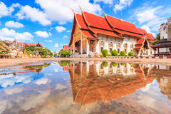 Ancient pagoda at Wat Chedi Luang temple in Chiang Mai, Thailand Stock Photos