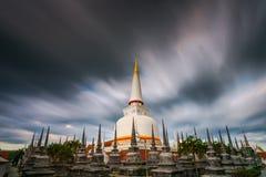 Ancient Pagoda in Wat Mahathat temple, Nakhon Si Thammarat ,Southern of Thailand Stock Photography