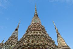 Ancient pagoda at Wat Pho,Bangkok,Thailand Royalty Free Stock Image