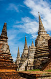 Ancient Pagoda. The Ancient Pagoda at Wat Phra Sri Sanphet Temple in Ayutthaya Stock Images