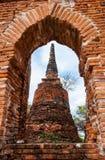 Ancient Pagoda. At Wat Phra Sri Sanphet temple, Ayutthaya, Thailand Stock Image