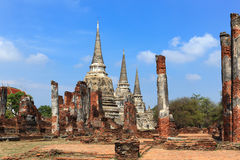 Ancient pagoda on wat phrasrisanpetch temple Stock Photography