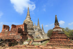 Ancient pagoda on wat phrasrisanpetch temple Royalty Free Stock Photo