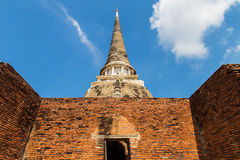 Ancient pagoda on wat phrasrisanpetch temple Royalty Free Stock Images
