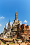 Ancient pagoda on wat phrasrisanpetch temple in thailand Royalty Free Stock Photo