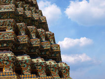 Ancient pagoda at wat po temple Stock Image