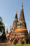 Ancient Pagoda at Watyaichaimongkol Temple in Ayudhaya, Thailand Royalty Free Stock Photo