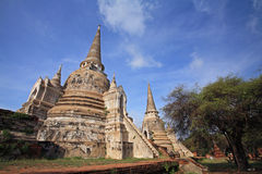 Ancient pagodas in Ayutthaya Stock Photos