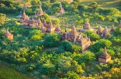 Ancient pagodas in Bagan Stock Image