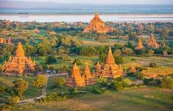 Ancient pagodas in Bagan Stock Photography