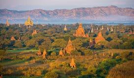 Ancient pagodas in Bagan Royalty Free Stock Image