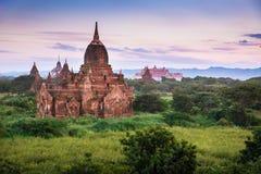 Ancient pagodas in Bagan Stock Photo