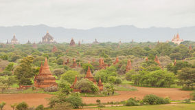 Ancient pagodas in Bagan Mandalay, Myanmar Stock Photography