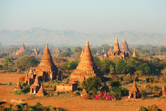 Ancient pagodas in Bagan, Myanmar Royalty Free Stock Image
