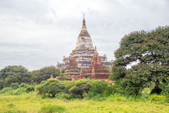 Ancient pagodas in the countryside from Bagan Myanmar Stock Photo