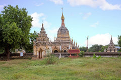 Ancient pagodas in the countryside from Bagan in Myanmar Royalty Free Stock Image