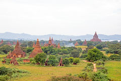 Ancient pagodas in the landscape from Bagan Myanmar Stock Image