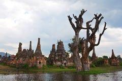 Ancient pagodas in Sangkar, Shan state, Myanmar Stock Photos