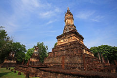 Ancient Pagodas on Srisatchanalai historical park Royalty Free Stock Images