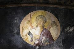 Archangel in the Church of the Holy Saviour in Chora, Istanbul stock photos