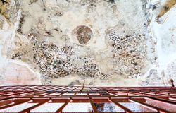 Ancient painted plaster in Little Petra Royalty Free Stock Photos