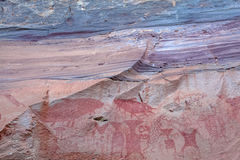 Ancient painting decayed by time, Phatam National Park, Ubonrachatani Royalty Free Stock Photo