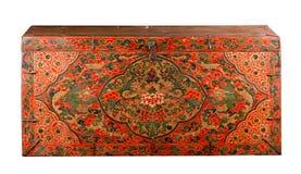 Ancient painting Tibetan box Stock Photo