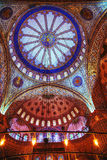 Ancient paintings on the roof in Sultan Ahmed Mosque (Blue Mosqu Stock Image