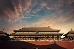 Ancient palace with beautiful sky Stock Images