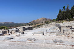 Ancient palace of Phaestos at Crete island Royalty Free Stock Photo