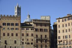 Ancient palace in Siena Stock Photography