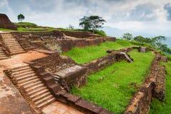 The ancient palace  in Sri Lanka. The ancient King's  palace of SIGIRIYA in Sri Lanka Royalty Free Stock Image