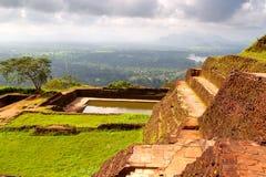 The ancient palace  in Sri Lanka. The ancient palace of SIGIRIYA in Sri Lanka Royalty Free Stock Image