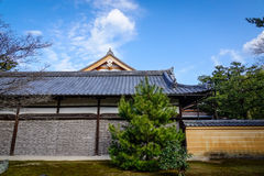 Ancient palace at sunny day in Kyoto, Japan Stock Photos