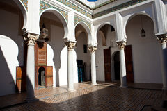Ancient palace in Tangier Royalty Free Stock Images