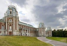 Ancient palace in Tsaritsino park Stock Photo