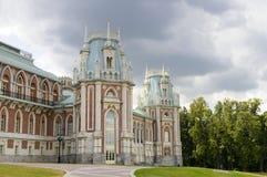 Ancient palace in Tsaritsino park Stock Photos
