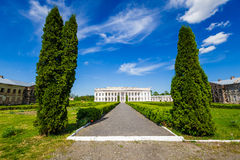 Ancient palace in Ukraine. An ancient palace of the Polish tycoons Potocki in Tulchin, Ukraine. The former residence of the President of Ukraine Viktor Royalty Free Stock Image
