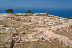 The ancient palace of Vouni. North Cyprus Royalty Free Stock Photo