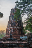 Ancient palaces against the evening sky. Ayutthaya Thailand. Royalty Free Stock Photography
