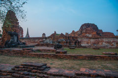 Ancient palaces against the evening sky. Ayutthaya Thailand. Stock Photography