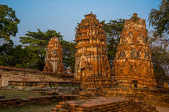 Ancient palaces on the background of blue sky. Ayutthaya Thailand. Stock Images