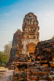 Ancient palaces on the background of blue sky. Ayutthaya Thailand. Royalty Free Stock Photography