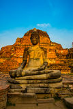 Ancient palaces on the background of blue sky. Ayutthaya Thailand. Royalty Free Stock Photo
