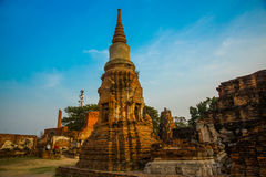 Ancient palaces on the background of blue sky. Ayutthaya Thailand. Stock Image