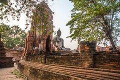Ancient palaces on the background at sunset. Ayutthaya Thailand. Royalty Free Stock Image