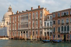 Ancient palazzi palace in Venice, Italy stock images