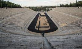 Ancient Panathenaic Stadium in Athens, Greece. The ancient Olympic Panathenaic Stadium in Athens, Greece Stock Photo